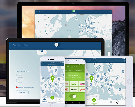 Capture d'écran NordVPN Mac
