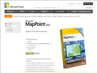 Capture d'écran MapPoint 2013