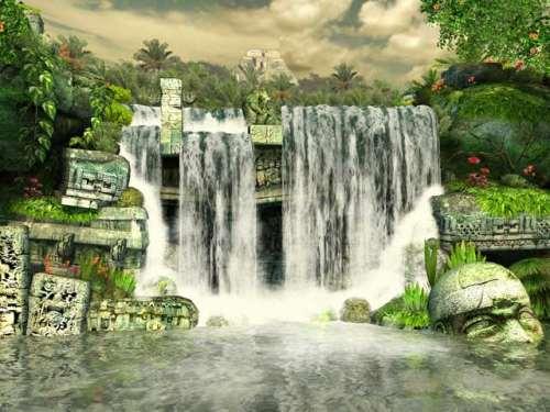 Capture d'écran Mayan Waterfall 3D Screensaver