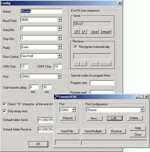 Capture d'écran ConnectCNC