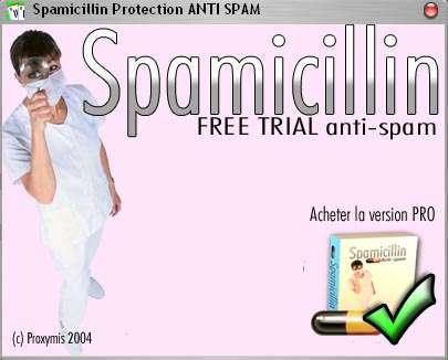 Capture d'écran Spam icillin anti SPAM