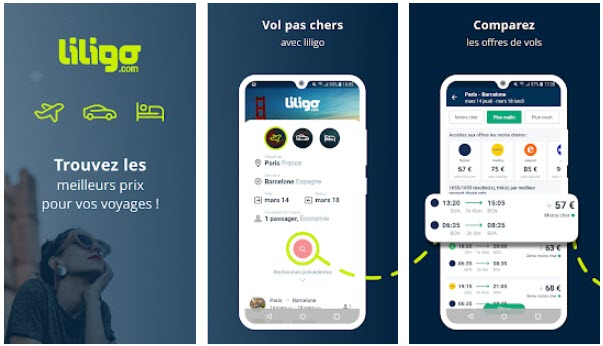 Capture d'écran Liligo Android