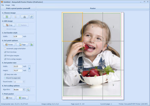Capture d'écran RonyaSoft Poster Printer