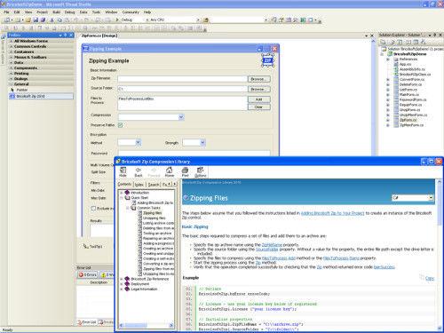 Capture d'écran Bricolsoft Zip ActiveX Component