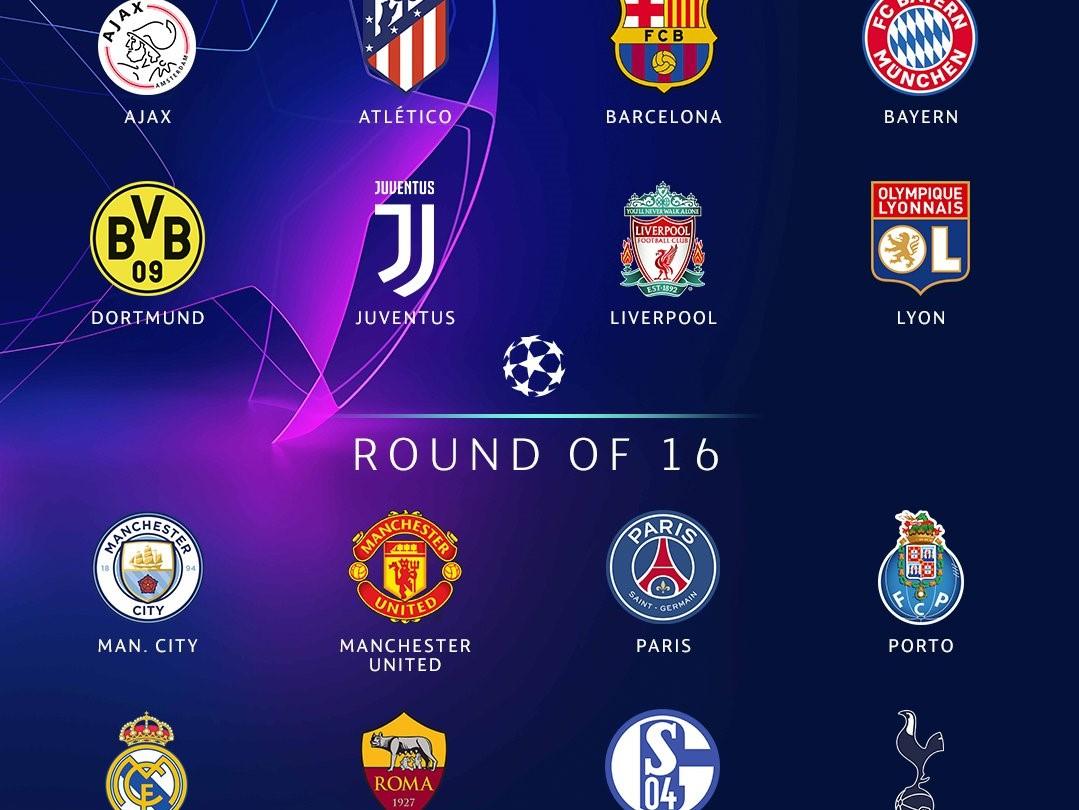 Capture d'écran Calendrier de la Ligue des Champions 2018 – 2019(Tirage)