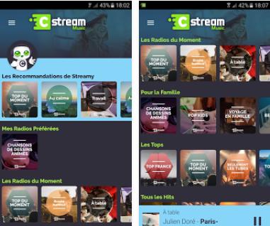 Capture d'écran Cstream Music iOS