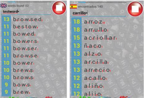 Capture d'écran Scrabble Multi-Language Helper