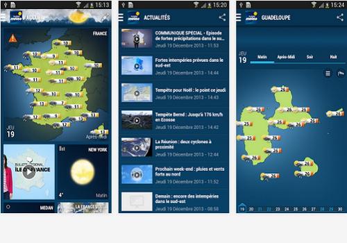 Capture d'écran La Chaine Meteo Android