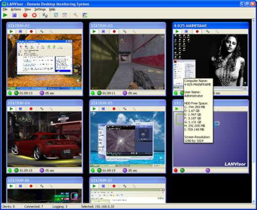 Capture d'écran LANVisor