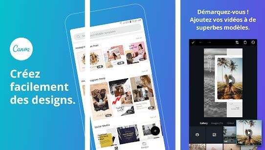 Capture d'écran Canva Android