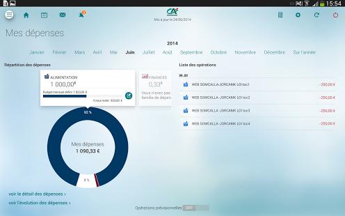 Capture d'écran Ma Banque – Credit Agricole Android