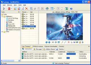 Capture d'écran GetWebPics