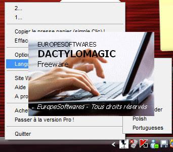 Capture d'écran DactyloMagic Mac
