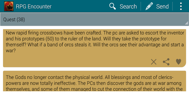Capture d'écran RPG Encounter