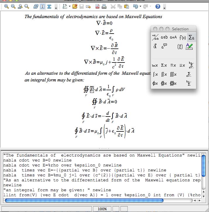 Capture d'écran Apache OpenOffice Mac