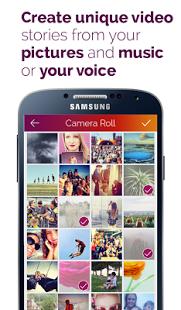 Capture d'écran PicMotion – vidéo diaporamas