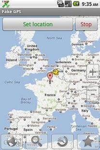 Capture d'écran Fake GPS location