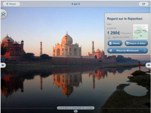 Capture d'écran Vacances Transat iOS