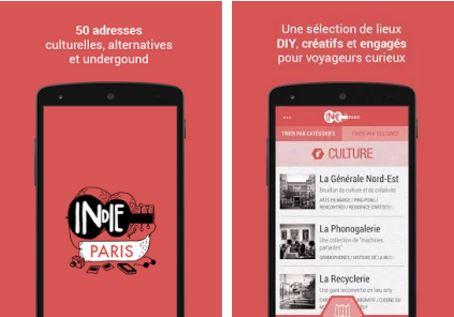 Capture d'écran Indie Guides Paris Android