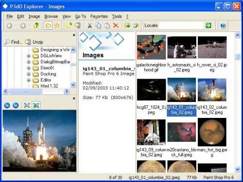 Capture d'écran P3dO Explorer