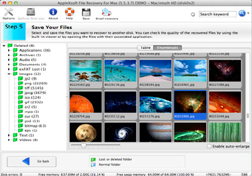 Capture d'écran Applexsoft File Recovery for Mac