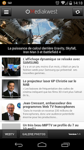 Capture d'écran Mediakwest