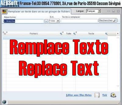 Capture d'écran Remplace Texte