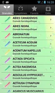 Capture d'écran Guide Homéo