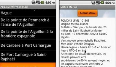 Capture d'écran Meteo Consult Marine