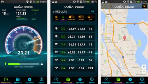 Capture d'écran Speedtest Android