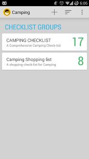 Capture d'écran Camping Checklist