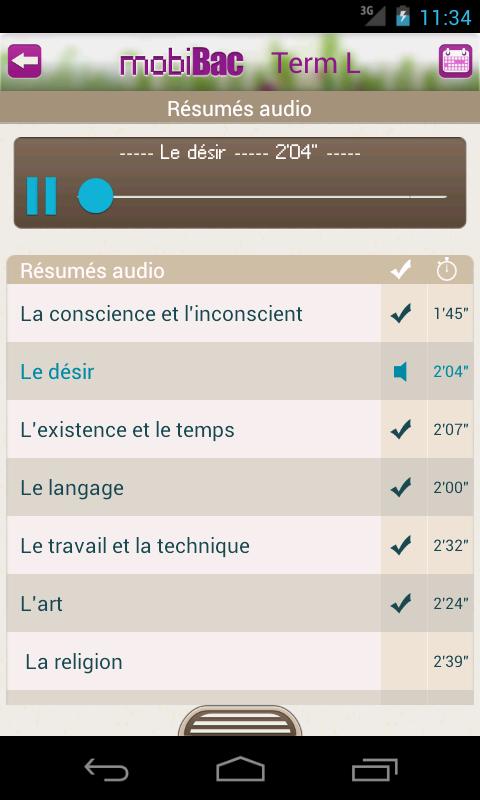Capture d'écran MobiBac Term L Android