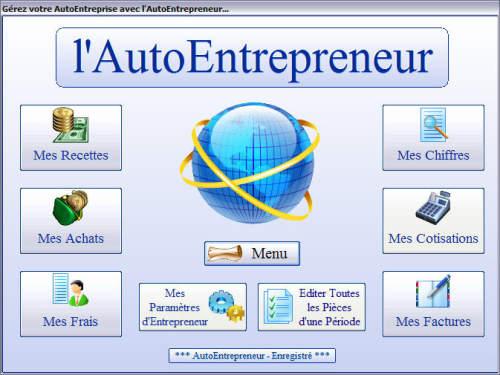 Capture d'écran AutoEntrepreneur 1.0.0.339 2013