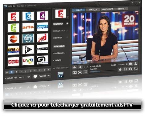 Capture d'écran ADSL TV