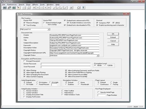 Capture d'écran PCL to PDF 32-bit / 32-bit .NET