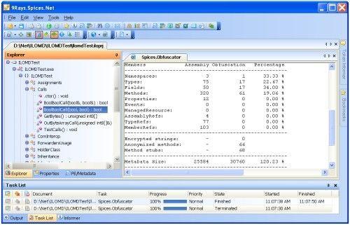 Capture d'écran Spices.Net Suite