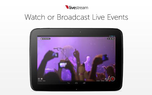 Capture d'écran Livestream Android