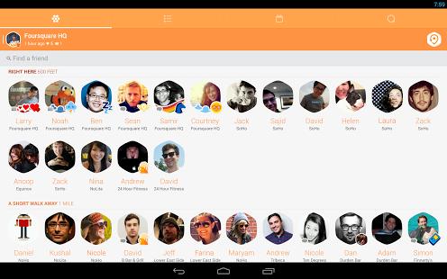 Capture d'écran Swarm Android