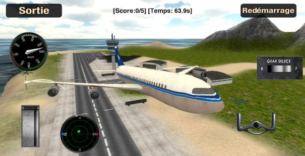 Capture d'écran Simulateur vol: voler plan 3D