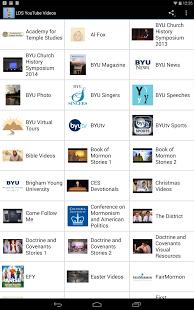 Capture d'écran LDS YouTube Videos