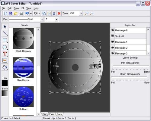 Capture d'écran AVS Cover Editor