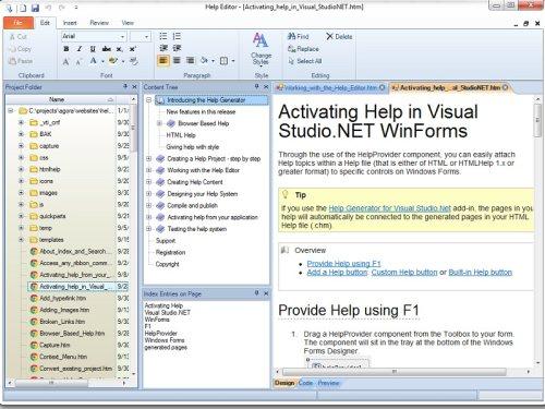 Capture d'écran Help Editor