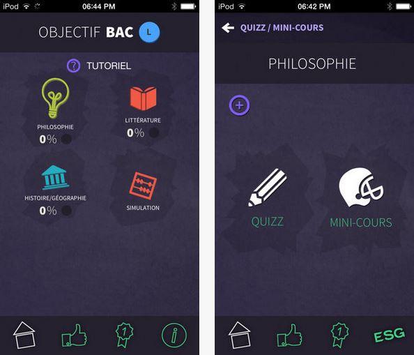 Capture d'écran Objectif Bac L 2016 iOS