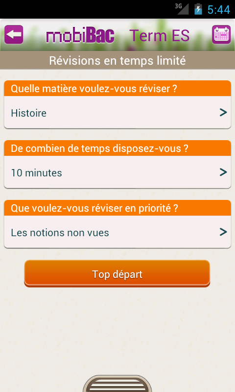 Capture d'écran MobiBac Term ES iOS