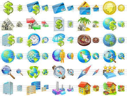 Capture d'écran Business Icons for Vista