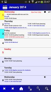 Capture d'écran Calendar Pro/en – full version