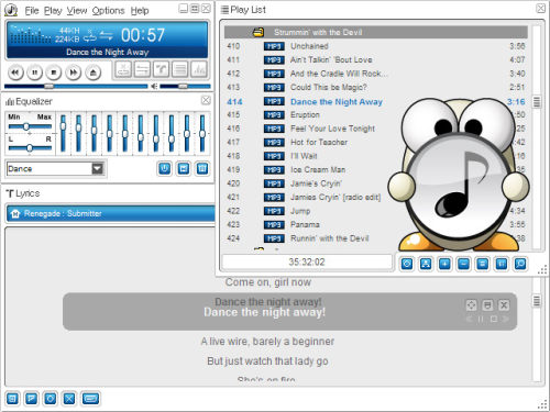 Capture d'écran ALSong
