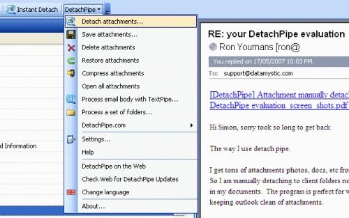 Capture d'écran DetachPipe