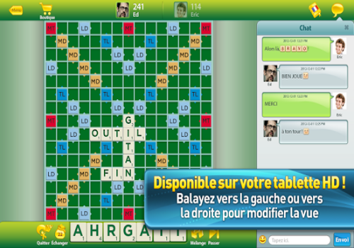 Capture d'écran Scrabble Android