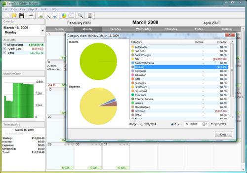 Capture d'écran Rylstim Budget